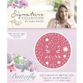 Crafters Companion - Signature Butterfly Lullaby Collection - Circle 3D Butterfly Die -  S-BL-MD-CB